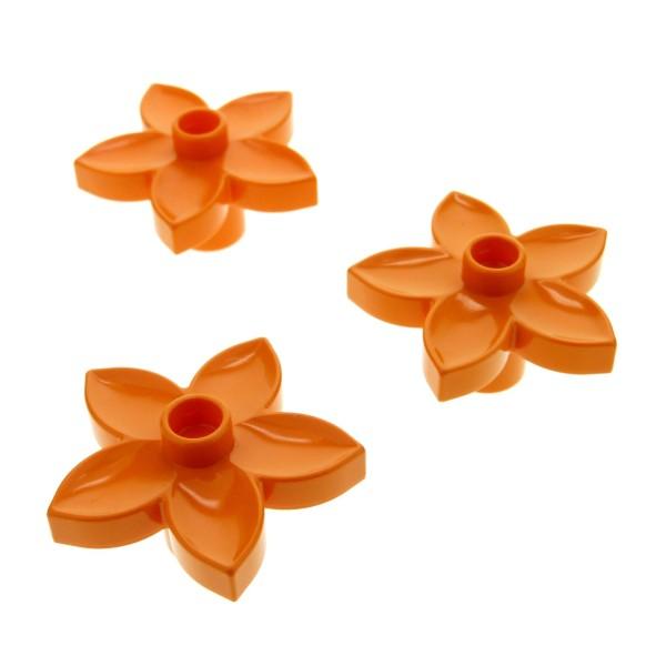 3 x Lego Duplo Pflanze Blüten orange Blume für Set 9130 3772 10508 10584 5544 4217971 6510