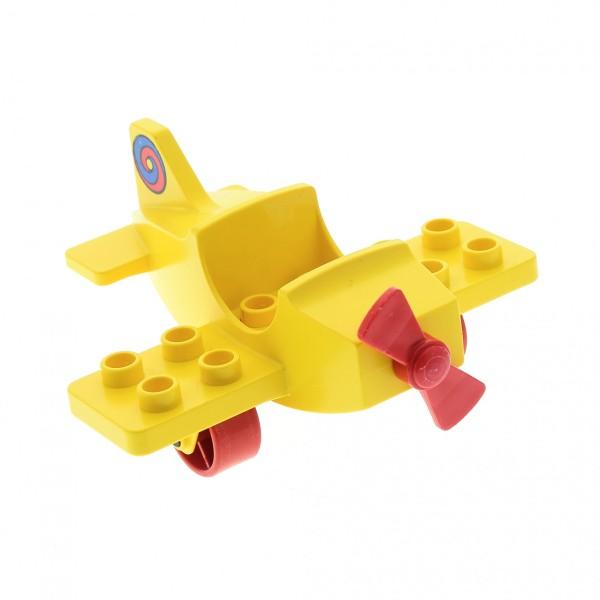 1 x Lego Duplo Antenne Radar gelb 2 x 2 drehbar Stand Fuss Base gelb Flughafen P