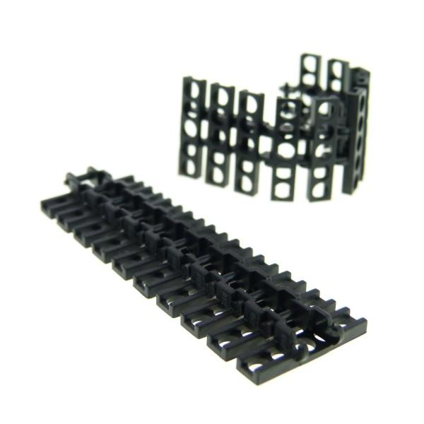 20 x Lego Technic Kettenglied schwarz Größe mittel Panzer Raupen Bagger Kran Glieder Kette Star Wars 7664 link chain Set 10144 75059 75015 387326 15379 3873