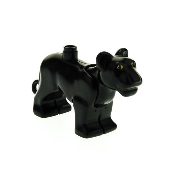 1 x Lego Duplo Tier Panther groß schwarz Zoo Zirkus Jungle Safari groß Katze bigcat01c01pb03
