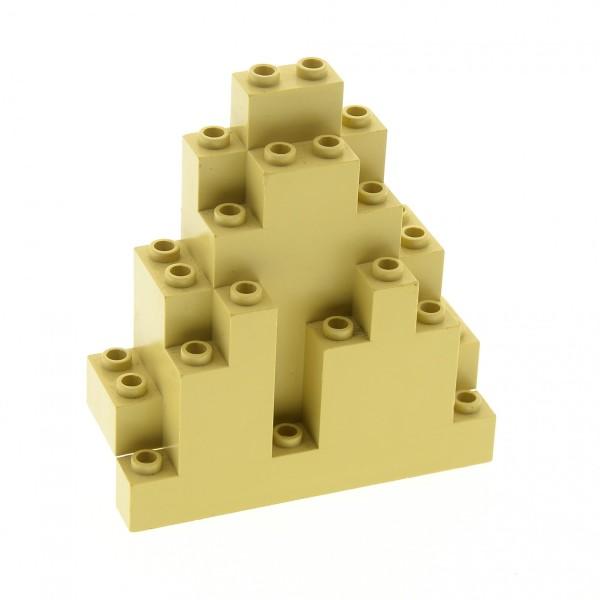 1 x Lego System Fels beige tan Felsen Panele Berg Stein Rock Mauer Wand Burg Castle 6083