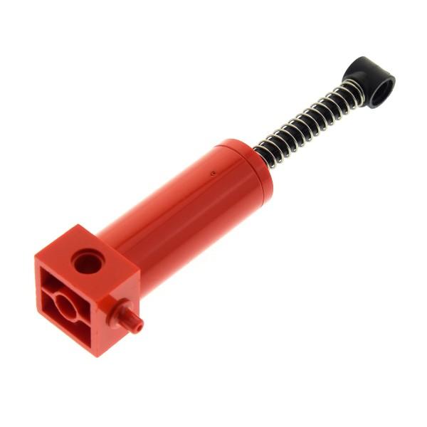 1 x Lego Technic Pneumatic Zylinder rot 48 mm mit Feder Old Style kurze Variante Technik Pumpe Kolben 40 mm Pneumatik geprüft 4701c01