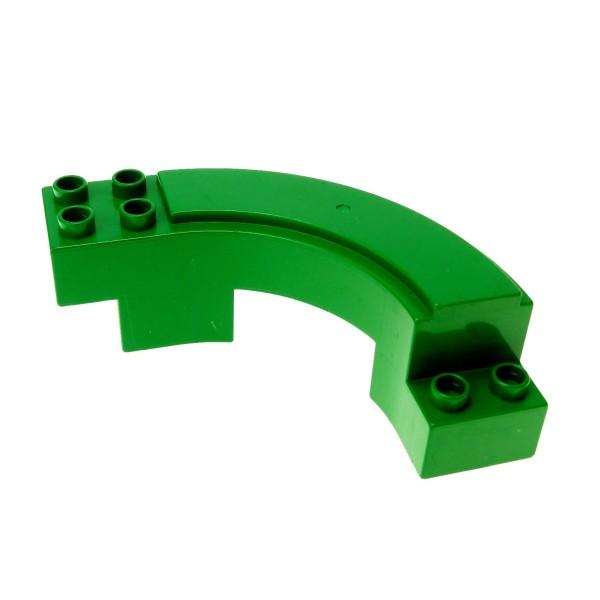 1 x Lego Duplo Rennbahn grün Straßenabschnitt gebogen Kurve Autobahn Rennstrecke Hochbahn Set 3267 2284 9067 31205