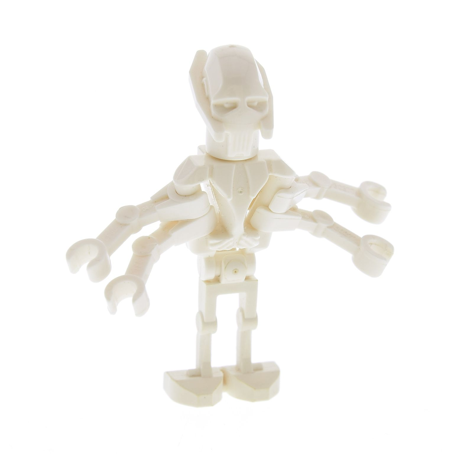 Head Modified LEGO Star Wars Minifigure White General Grievous