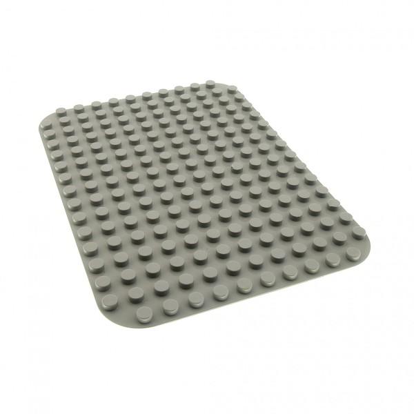 1 x Lego Duplo Bau Basic Platte alt-hell grau 12 x 16 Noppen abgerundete Ecken 12x16 6851