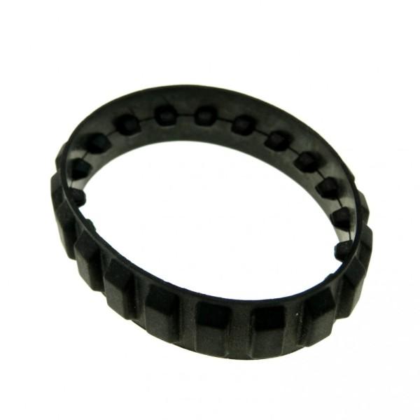1 x Lego System Gummi Kette schwarz 20 Zähne Raupe Bagger Kettenantrieb Black Tread small x939