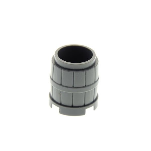 1 x Lego System Fass Tonne klein neu-dunkel grau 2x2x2 Müll Eimer Behälter Barrel Ritter Burg Castle Piraten Schiff Hafen 4218730 2489