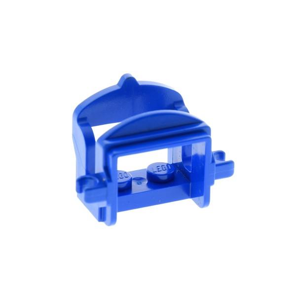 1x Lego Tier Pferd Sattel blau 2 Clips Indianer Western Castle 4491b