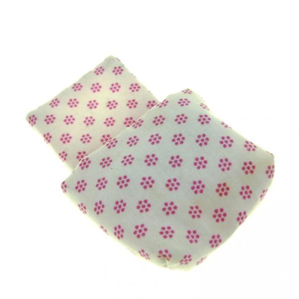 1 x Lego Duplo Schlafsack Stoff weiss mit Blumen pink rosa Bettbezug Schlafzimmer Baby Decke Kissen Puppenhaus sleepbag11