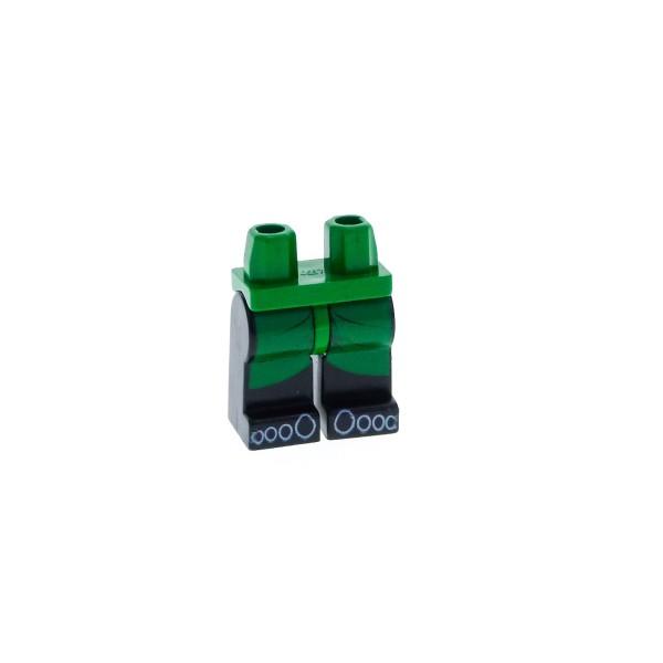 1 x Lego System Beine Hose Figur Adventurers Jungle Pharao Hotep Hüfte grün schwarz Füsse Kilt & Zehen für adv021 970c11pb01