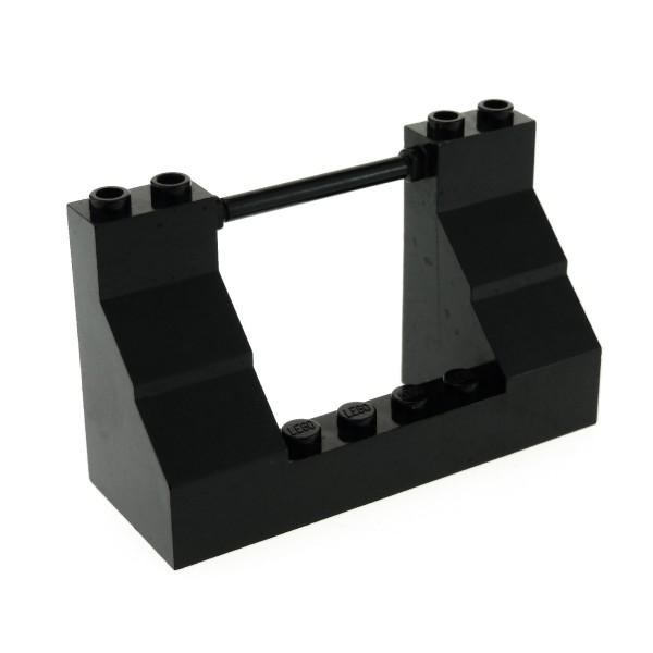 1 x Lego System Mauerteil schwarz 8x4x3 Mauer Kanonen Luke Piraten Reling Burg Castle Schiff 7075 4222138 47993