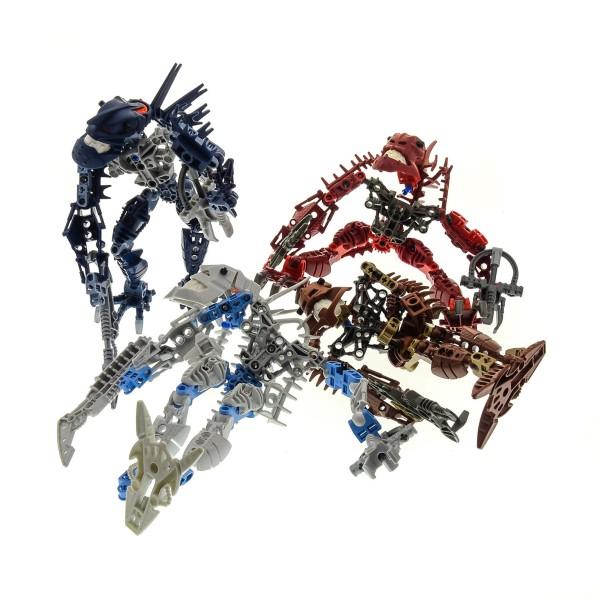 4 x Lego Bionicle Figuren Teile Set Modelle Technic 8901 Hakann 8902 Vezok 8904 Avak 8905 Thok incomplete unvollständig