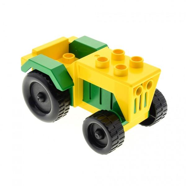 1 x Lego Duplo Bauernhof Traktor gelb grün Auto Fahrzeug Tier Hof klein tractor