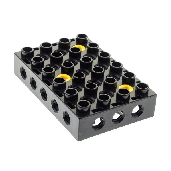 1 x Lego Duplo Toolo Platte schwarz 4 x 6 4x6 Stein Baustein Verbindung Halterung 4143473 31345c01