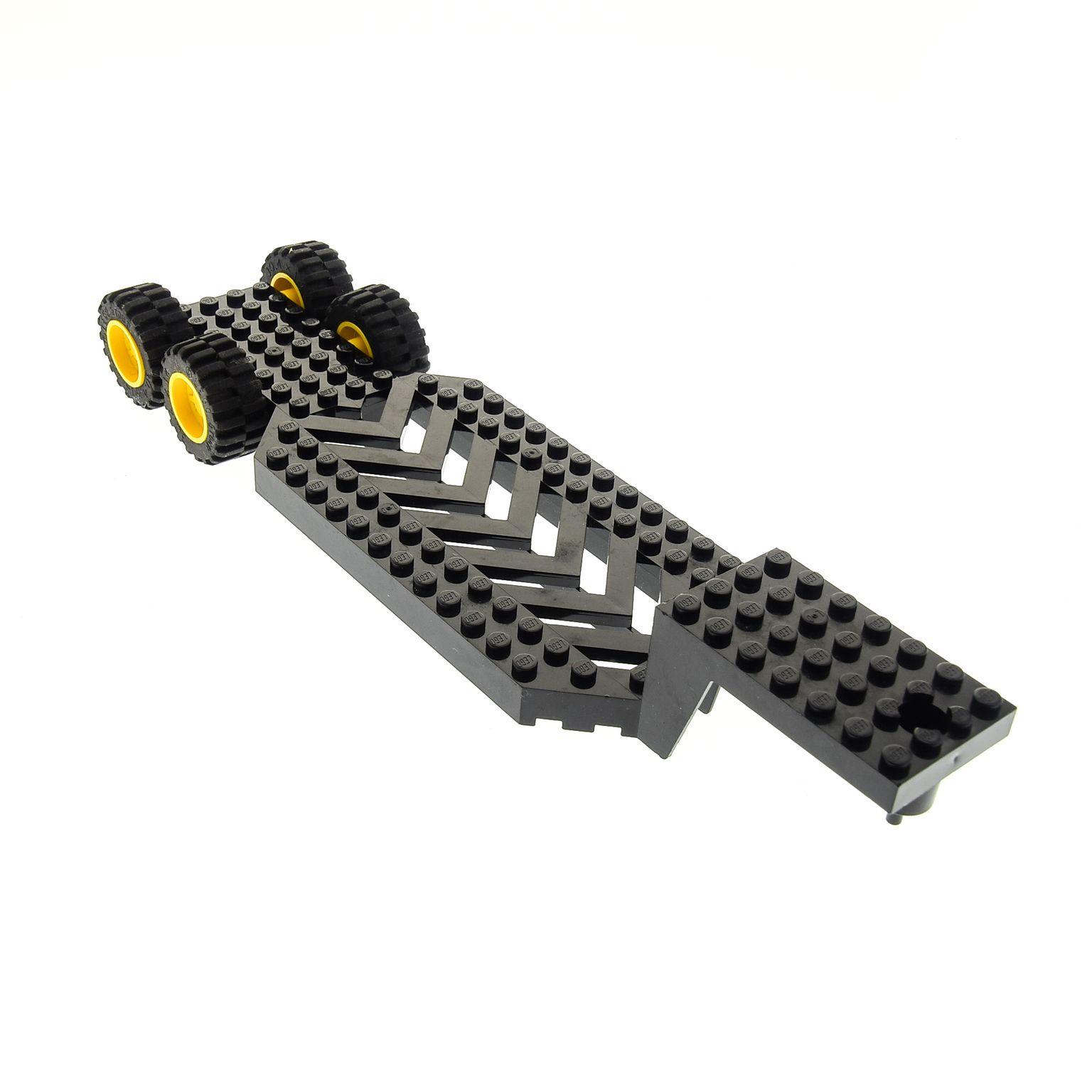 LEGO LKW Auflieger Chassis schwarz Trailer Base Tieflader 8x30x3 1//3 30620