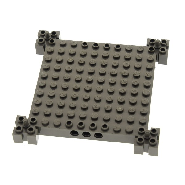1 x Lego System Bau Platte 12x12 alt-dunkel grau Noppen mit Pin Burg Turm Set 4657 4608 4609 30645