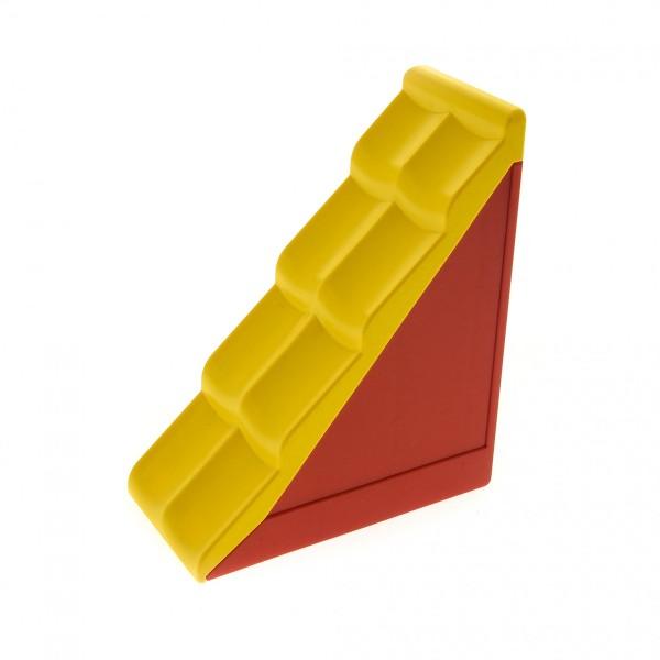 1 x Lego Duplo Dach rot gelb 50° 2 x 4 Element schmal klein Puppenhaus Set 9173 9233 9133 31030