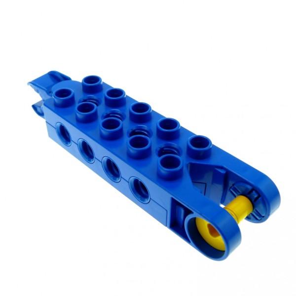 1 x Lego Duplo Toolo Stein blau 2 x 5 2x5 Arm Baustein mit 8 Gewindebuchsen Verbindung Schwenk Halterung 6288c01