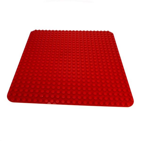 1 x Lego Duplo Bau Platte B-Ware beschädigt Basic Platte rot 24 x 24 Noppen 24x24 groß 2598 4219838 353 4268 34278