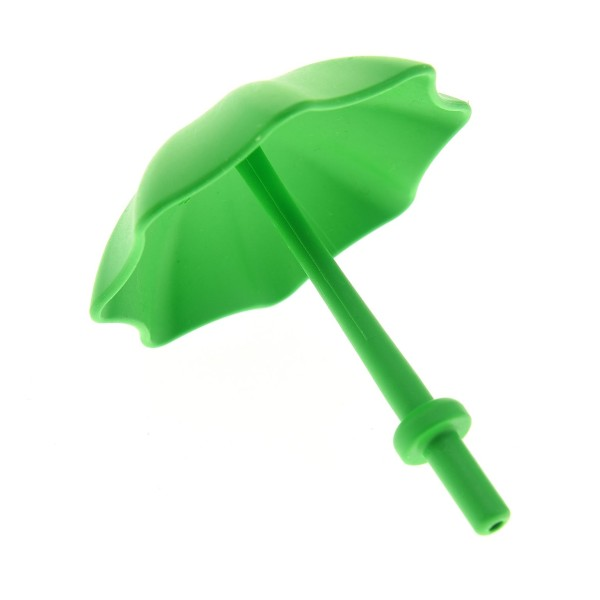 1 x Lego Duplo Schirm hell grün mit Stop Ring Kinderwagen Garten- Sonnen- Regenschirm Puppenhaus Möbel Zubehör 4171878 40554