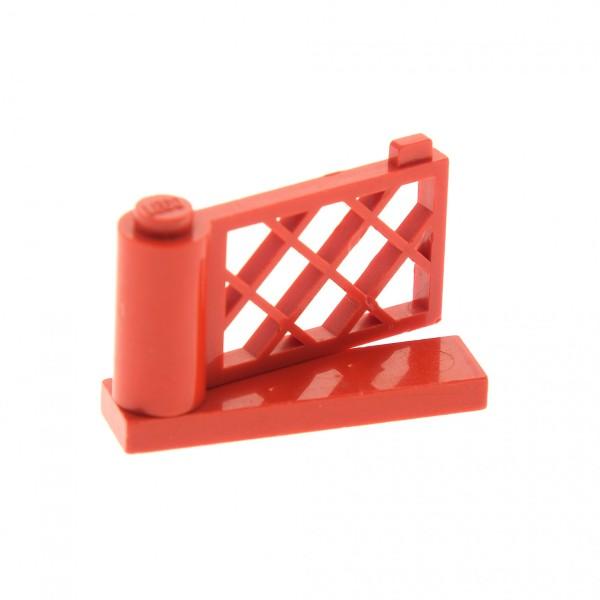 1 x Lego System Zaun rot 1x4x2 Gartenzaun Garten Tor Gatter komplett 3186 3187