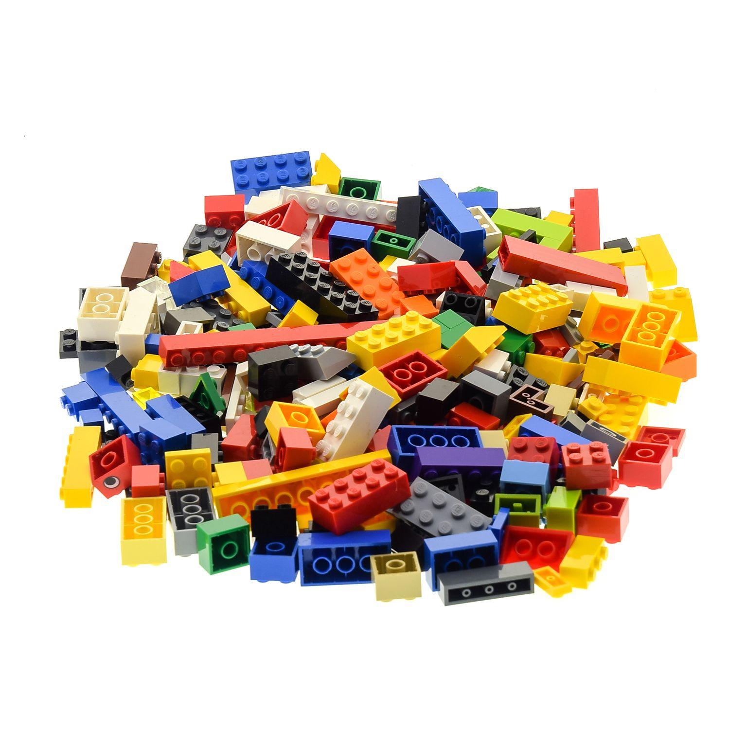 Steine//Bricks gebraucht LEGO Kiloware//kg blau Basicfarben