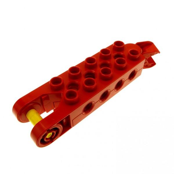 1 x Lego Duplo Toolo Stein rot 2 x 5 2x5 Arm Baustein mit 4 Gewindebuchsen an jeder Seite Verbindung Fahrgestell 6288c01