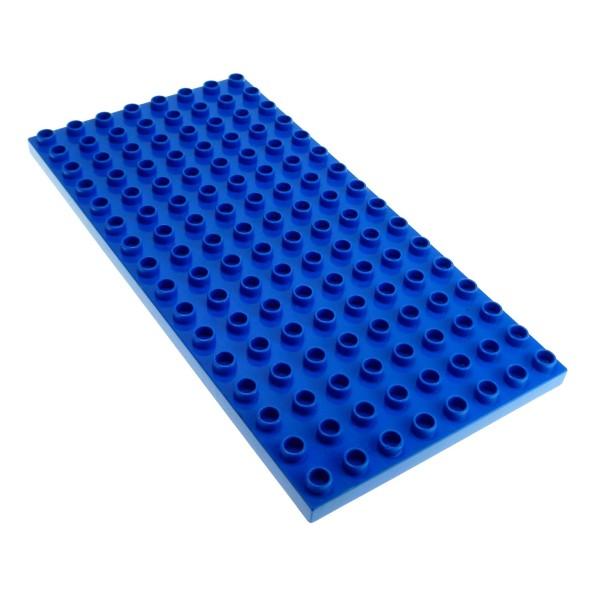 1x Lego Duplo Bau Basic Platte 8x16 blau Burg Polizei Set 4776 61310 6490
