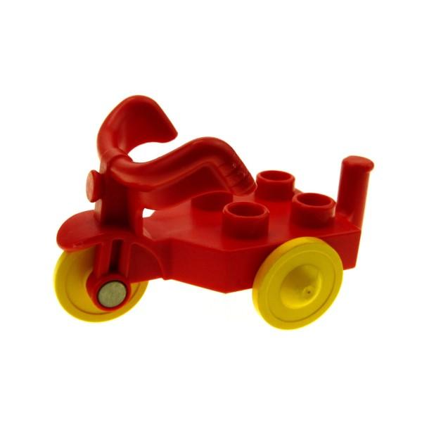 1 x Lego Duplo Dreirad rot Sitz mit 4 Noppen Spielplatz Kinder Trike Tricycle Puppenhaus 31189