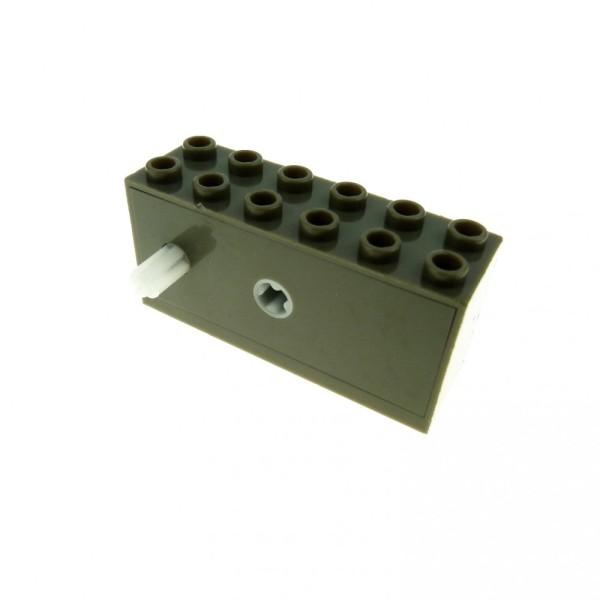 1 x Lego System Aufzieh Motor alt-dunkel grau 2 x 6 x 2 1/3 Rückziehmotor Auto Windup Sports 42073c01
