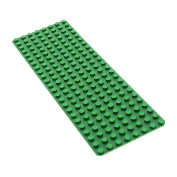 1 x Lego System Bau Basic Platte 8x24 grün 24 x 8 Noppen Rasen Set 6083 6060 1584 3497