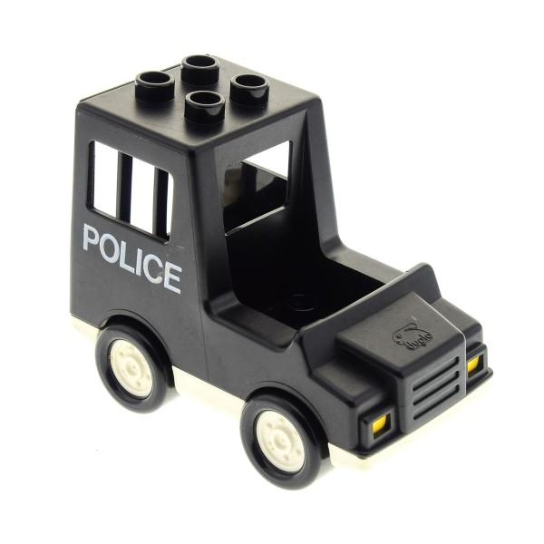 1 x Lego Duplo schwarz weiß Auto Van Truck Polizei Police PKW Gefangen Transporter 2672 dupvan