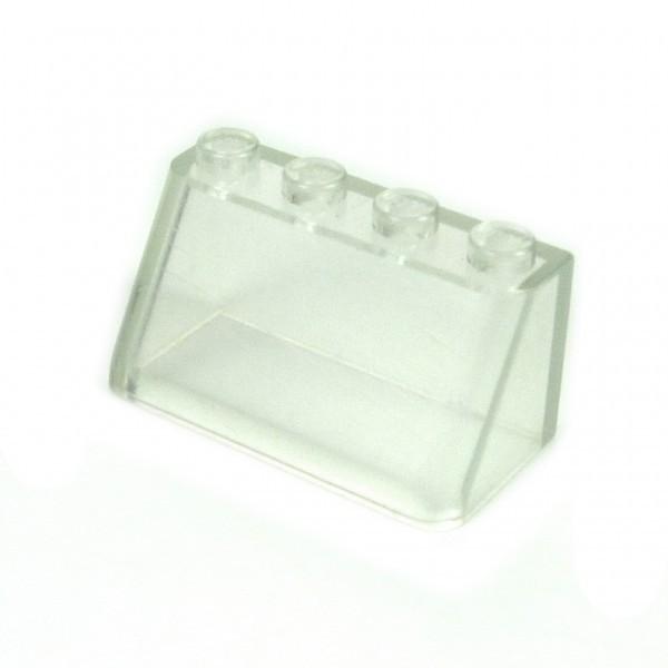 1 x Lego System Windschutzscheibe transparent weiß vergilbt 2 x 4 x 1 windscreen Auto Kanzel Cockpit Kuppel Fenster 21