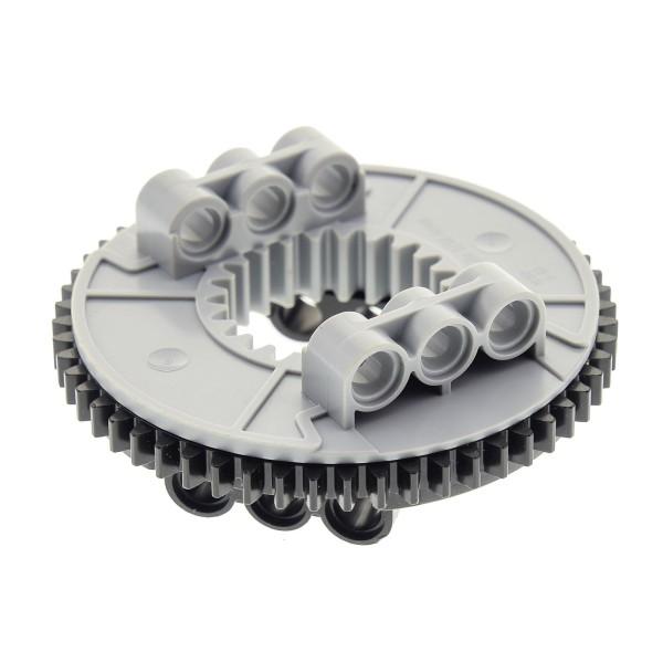 1 x Lego Technic Drehkranz flach schwarz neu-hell grau Turntable Technik rund Rad Zahnrad Typ2 45560 9397 4624645 48452cx1