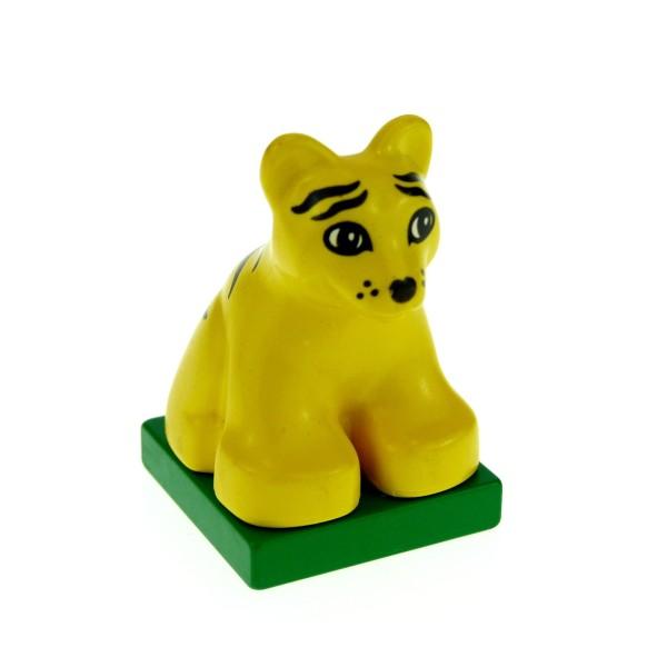 1 x Lego Duplo Tier Tiger Baby gelb gestreift Safari Zoo Dschungel Katze 2334c03pb03