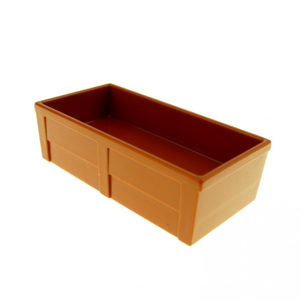 1 x Lego Duplo Möbel dunkel orange braun 2x4 Trog Tier Pferde Tränke Kiste Bauernhof Set 5635 10500 5648 4538187 61896