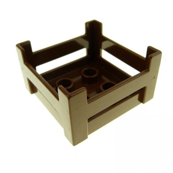 1 x Lego Duplo Möbel Kiste braun Korb Container Puppenhaus Zoo Möbel Holzkisten-Style 644625 6446