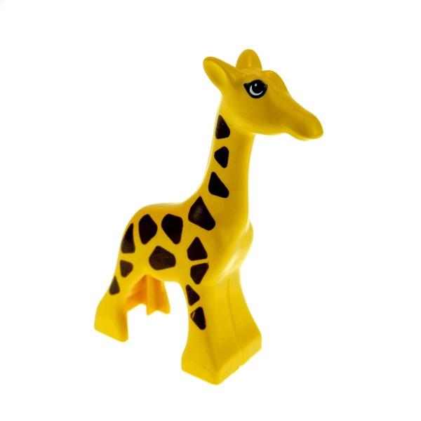 1 x Lego Duplo Tier Baby Giraffe klein gelb mit vielen einzelnen Punkten Zoo Safar 2278pb01