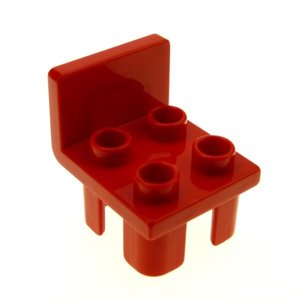 1 x Lego Duplo Stuhl rot 4 Noppe Sitz Stühle Küche Wohnzimmer Schlafzimmer Puppenhaus Möbel 4112066 6478