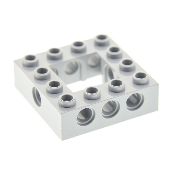 1 x Lego Technic Bau Rahmen Stein neu-hell grau 4x4 Lochstein Technik (Unterseite Punkt) Set 76035 75192 4768 76023 76042 75825 32324