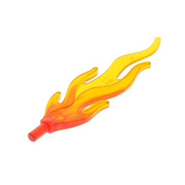 1 x Lego System Flamme transparent orange rot Drache Dino Lagerfeuer Feuer Waffe Licht Schwert 70403 2507 9449 4548009 85959pb01a 94448pb01a