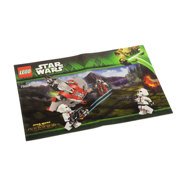 1 x Lego System Bauanleitung A5 für Star Wars Old Republic Republic Troopers vs. Sith Troopers 75001