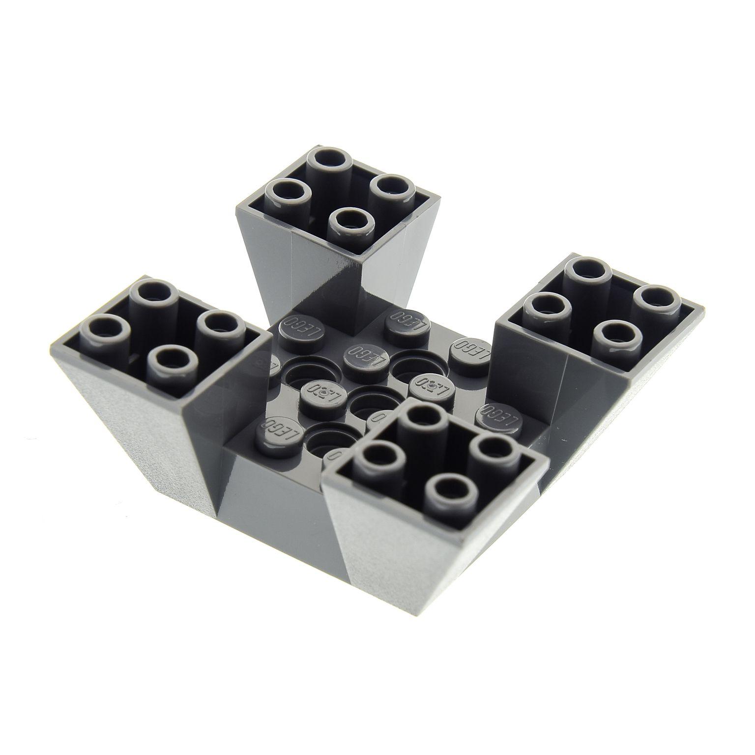 1 x Lego System Mauerteil neu-dunkel grau 6x6x2 Turm Burg Castle 4210640 30373