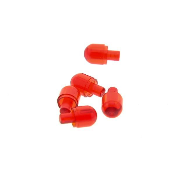 5 x Lego Bionicle Licht Stein Kappe transparent rot mit Stecker Lampen Auge Set 75233 8926 70161 8635 4497943 58176