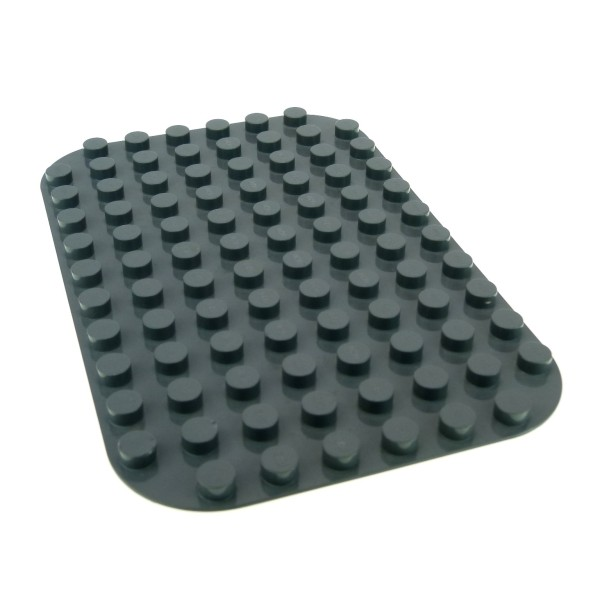 1 x Lego Duplo Bau Basic Platte 8 x 12 neu-dunkel grau 12 x 8 Noppen 8x12 abgerundete Ecken für Set Flughafen 7840 4265232 31043