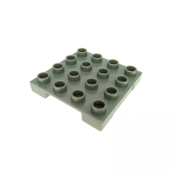 1 x Lego Duplo Platte Palette perl silber hell grau 4 x 4 Cargo Baustelle Flughafen Eisenbahn 5594 7843 7840 47415