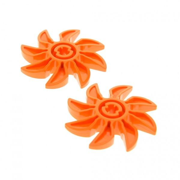 2 x Lego System Rotor orange 8 Blätter 5 Diameter/Durchmesser Propeller Technic für Set 70909 8708 70224 70222 4538376 41530