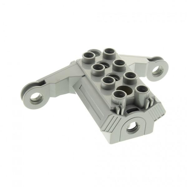 1 x Lego Duplo Toolo Bau Stein Motor Block alt-hell grau Motorblock 31382c01
