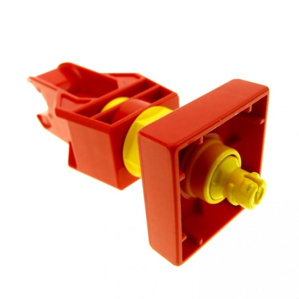 1 x Lego Duplo Toolo Stein rot gelb Dreh Arm Halterung Verbinder Kupplung mit Clip 6663c01