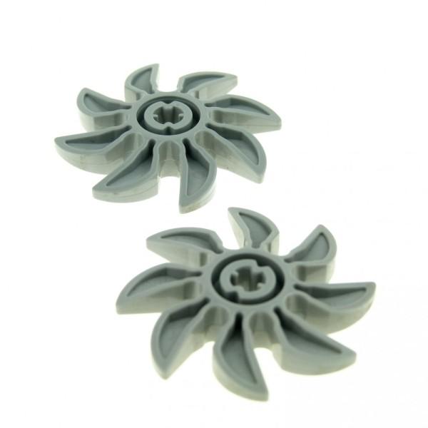 2 x Lego System Rotor neu-hell grau 8 Blätter 5 Diameter/Durchmesser Propeller Technic Set 7243 7040 8265 8823 4159341 41530